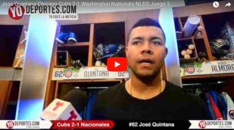 José Quintana sólido y Cachorros a un juego de eliminar a los Nacionales