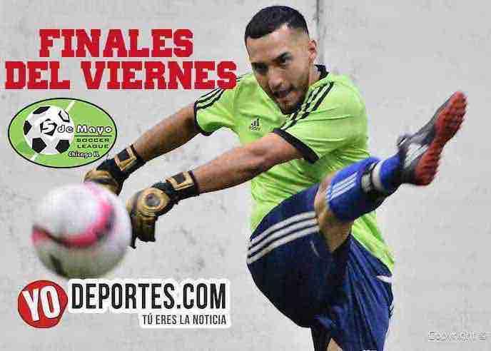 Horarios para finales del viernes en 5 de Mayo Soccer League