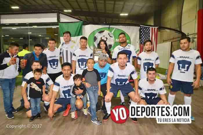 Pumas UNAM campeones de los viernes en 5 de Mayo Soccer League