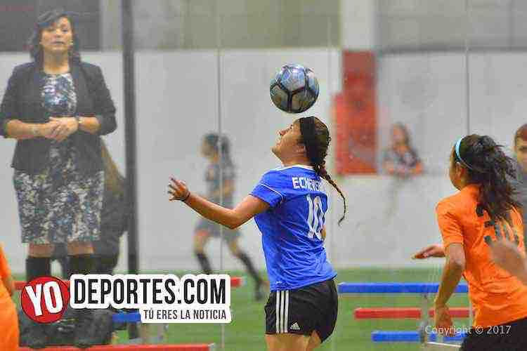 Real Michoacan-Nacional FC-AKD-Women Premier Academy Soccer League-indoor futbol