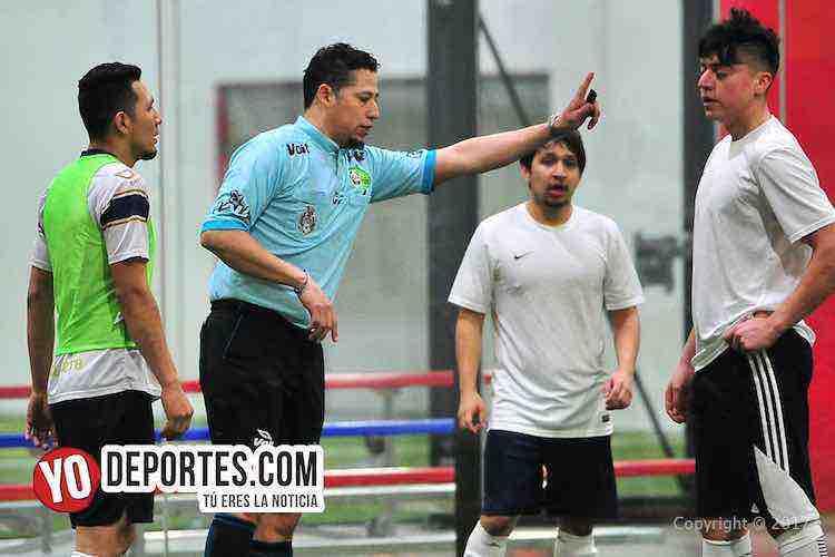 Arbitro Daniel Diaz-UNAM-Deportivo Madrid-Liga 5 de Mayo