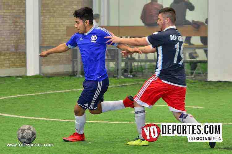 Iramuco contra Deportivo Amistad Liga Douglas-chicago soccer indoor