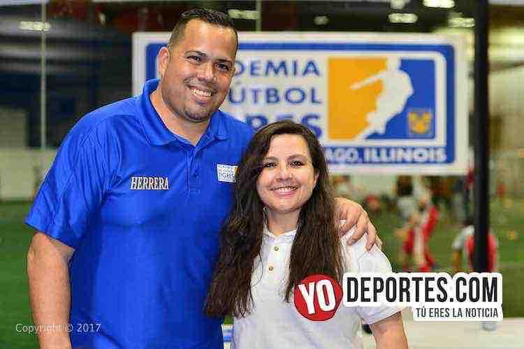 Juan Carlos Herrera-Lucy Montano-Academia Oficial Club Tigres de Monterrey Chicago