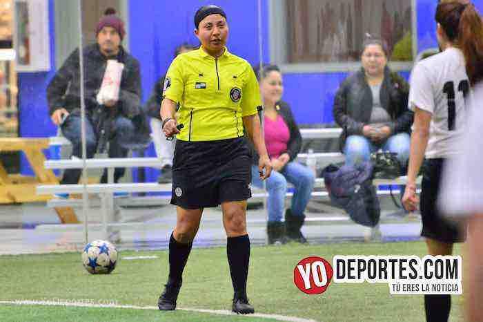 Arbitro Rosalba Luna-Empatadas Real FC y Scorpions AKD Premier Academy Soccer League