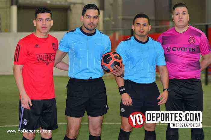 Valencia-America-Liga Latinoamericana-arbitro Alejandro Aguilar-John Montoya-