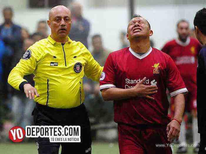 Arbitro Fernando Ibara-Valle de Guadalupe-Liverpol-Liga Latinoamericana-veteranos