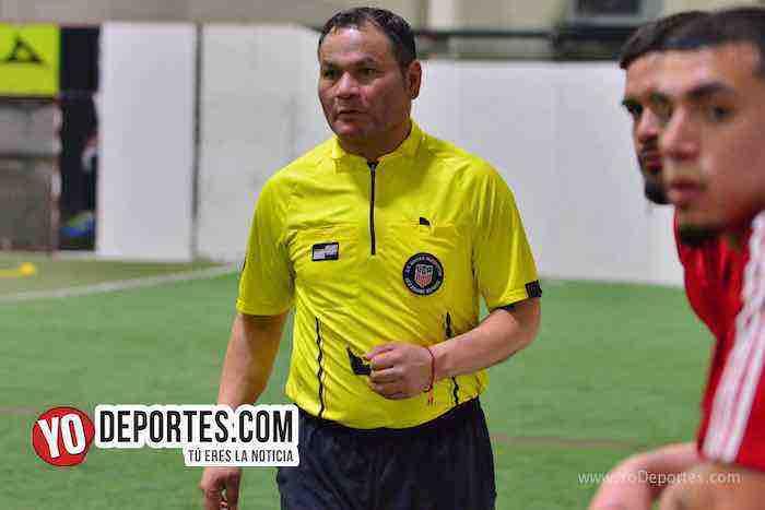 Armando Ortega arbitro-Marquette FC-UNAM-Liga 5 de Mayo