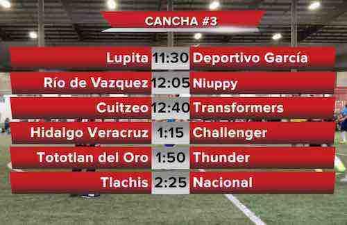 Estos son los horarios para las finales del domingo en la Liga 5 de Mayo