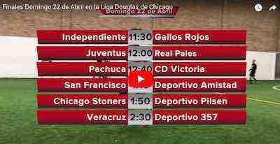 Finales en la Liga Douglas este domingo 22 de abril