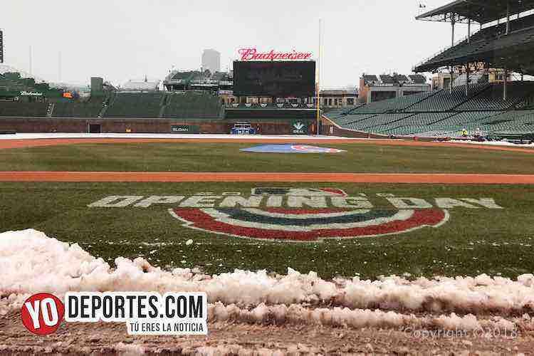 La nieve cancela Opening Day en Wrigley Field la casa de los Cachorros de Chicago
