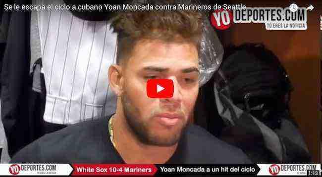 Se le escapa ciclo a cubano Yoan Moncada en triunfo de Medias Blancas contra Marineros de Seattle