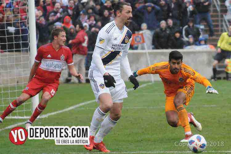 Zlatan Ibrahimovic-Richard Sanchez-Chicago Fire-LA Galaxy Toyota Park