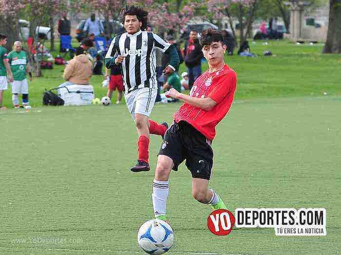 Gallos Rojos-Porto Alegre-Liga Douglas Futbol Soccer Chicago