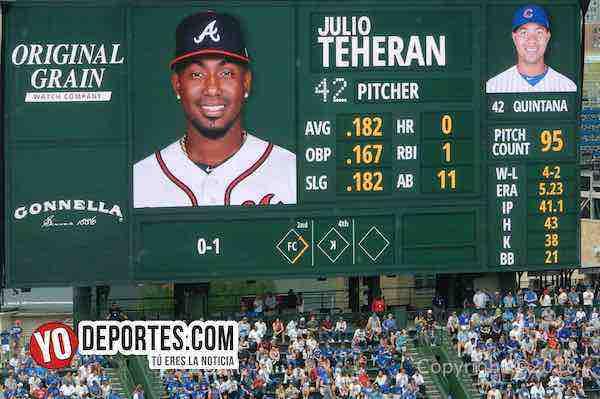 Julio Theran-Jose Quintana-Cubs-Atlanta Braves