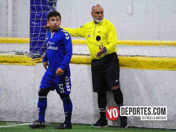 Nacional contra Morelos Jr semifinal de recopa en la Liga Matehuala de Melrose Park Arbitro