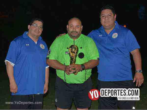 Alan Mejia-arbitro Carlos Aragon-Ricardo Sanchez-World Cup-Illinois International Soccer League
