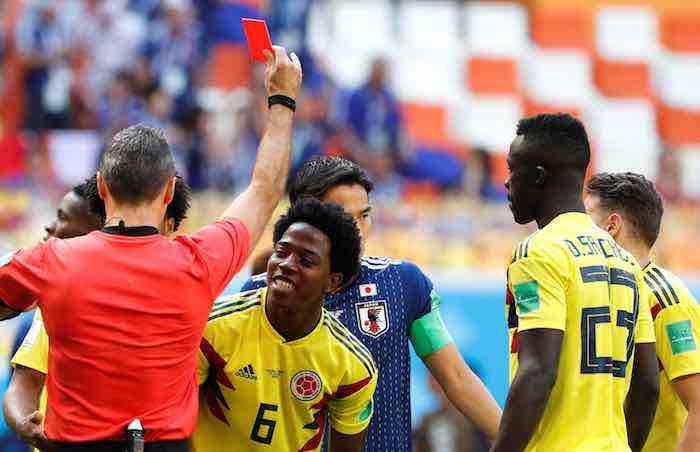 El colombiano Carlos Sánchez primer expulsado del Mundial