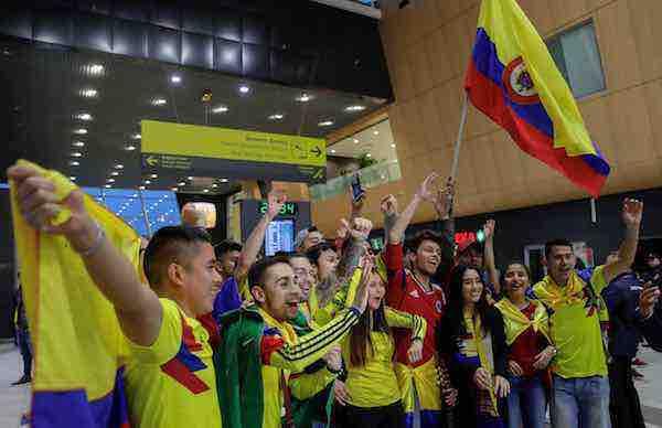 Colombia aterriza Kazán a una semana de su debut ante Japón