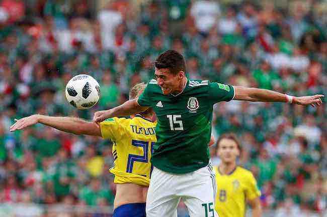 Héctor Moreno se pierde el partido de octavos por acumulación de tarjetas