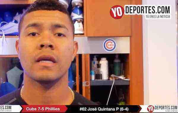 José Quintana se va sin decisión pero contento por triunfo ante Phillies de Philadelphia