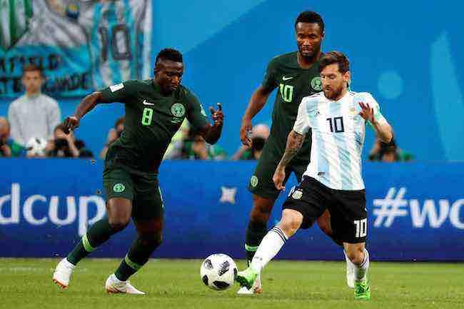 Leo Messi mete el gol 100 del Mundial de Rusia