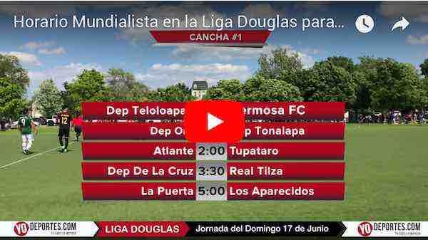 Horario Mundialista este domingo en la Liga Douglas