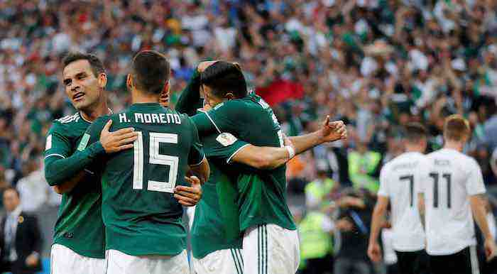 México logra su primer triunfo en un Mundial ante la potente Alemania