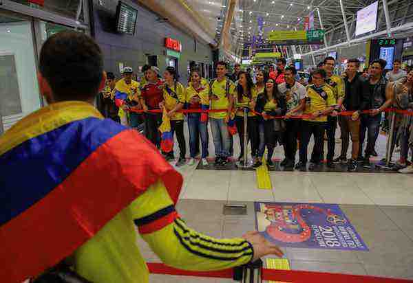 Mundial Rusia llegada de Colombia