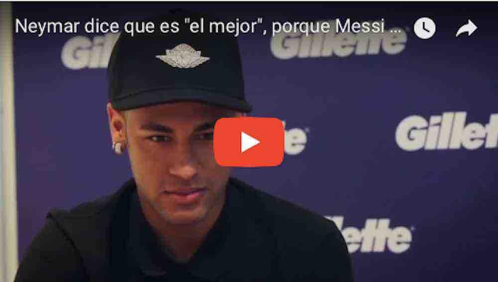 """Neymar dice que es """"el mejor"""", porque Messi y Cristiano """"son de otro planeta"""""""