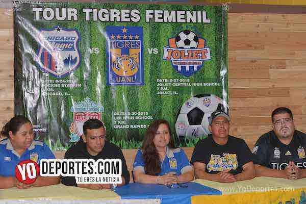 Presentan lista de jugadoras que vienen al Tour Tigres Femenil UANL a Chicago Joliet y Michigan