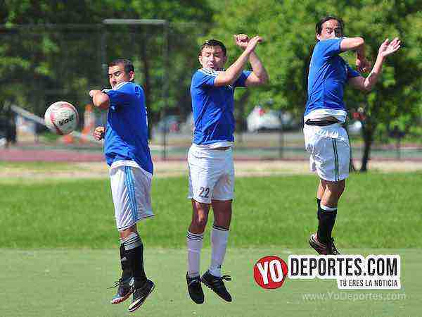 Valle FC-Maravatio-Liga Douglas futbol en Chicago