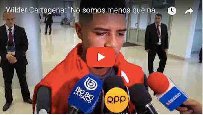 """Wilder Cartagena: """"No somos menos que nadie"""""""