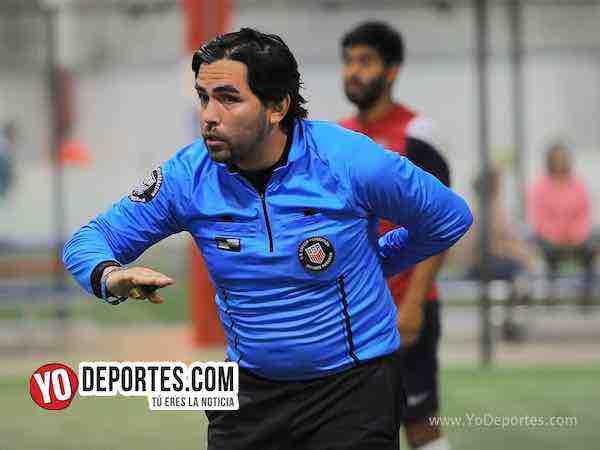 Arbitro Alvaro Cortina-Azul Krema-Deportivo Hidalgo-Liga 5 de Mayo