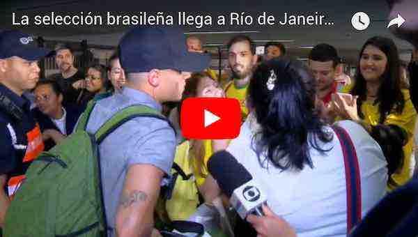 La selección brasileña llega a Río de Janeiro tras la eliminación del Mundial de Rusia