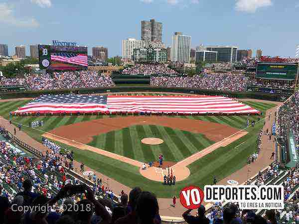Cubs Wrigley Field 4 de julio en Chicago