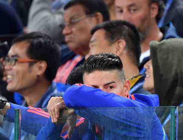 Las lágrimas de James Rodríguez