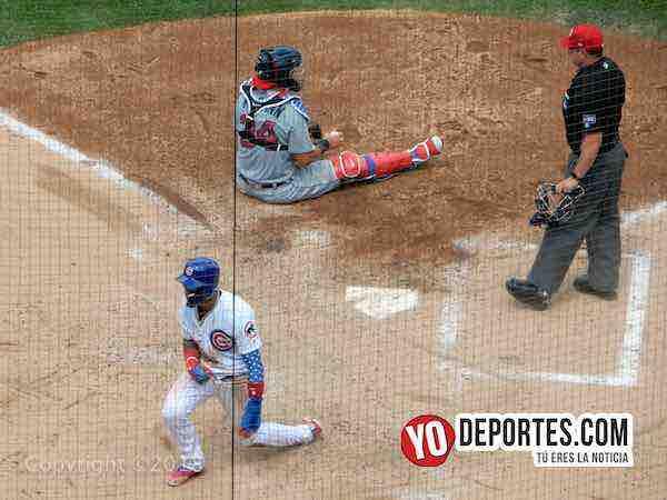Javier Baez se roba el home Cubs contra Tigres Detroit