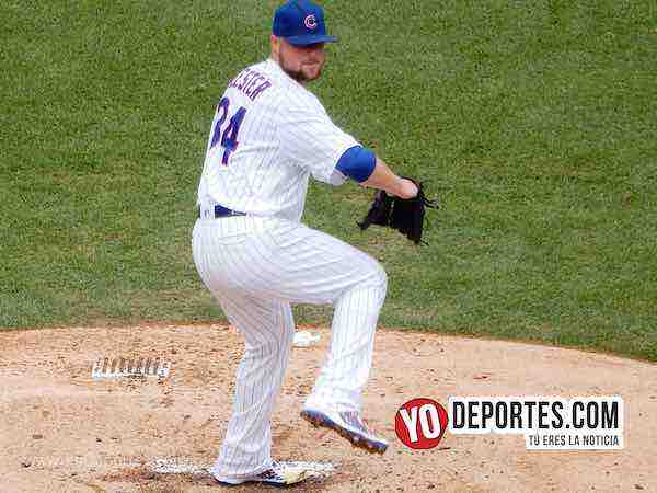 Jon Lester-Cubs-Cardenales-Chicago Wrigley Field