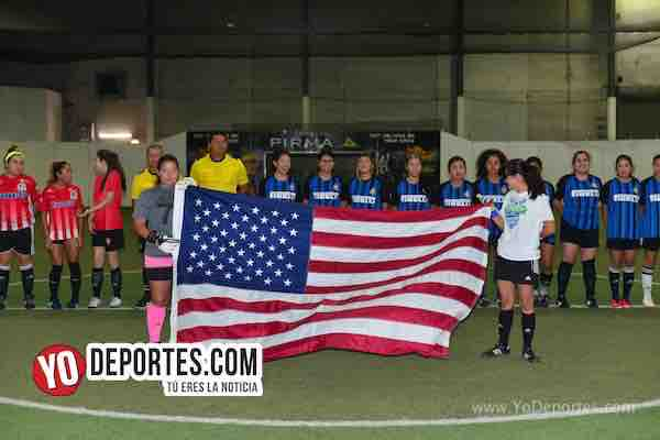 San Luis-Chicago Ladies-Liga Latinoamericana bandera Estados Unidos