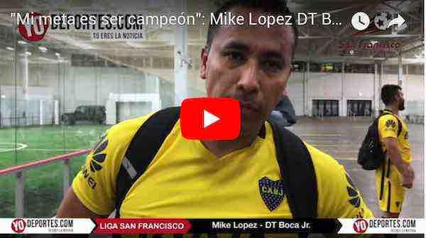"""""""Mi meta es ser campeón"""": Mike López DT del Boca Jr."""