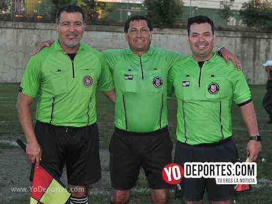 Arbitro Alex Ramirez-Javier Torres El Chino-Valdo Roman-Industria-Bosque Real-Liga Victoria Ejidal-veteranos