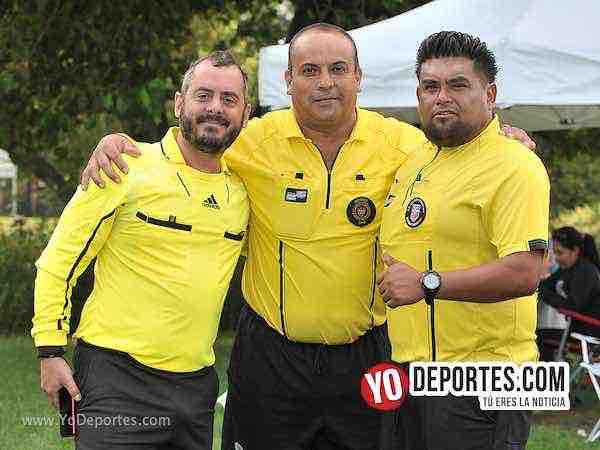 Arbitro Rodrigo Saraibe-Enrique Benitez-Miguel Gutierrez-Deportivo Hidalgo-Challenger-Liga 5 de Mayo