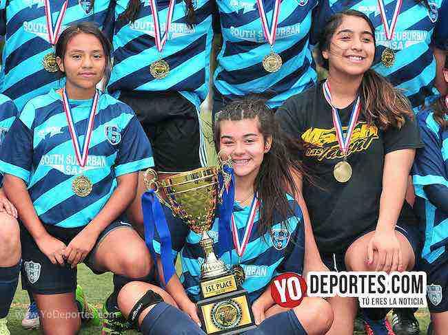 Blue Island campeonas del futbol femenil en Chicago