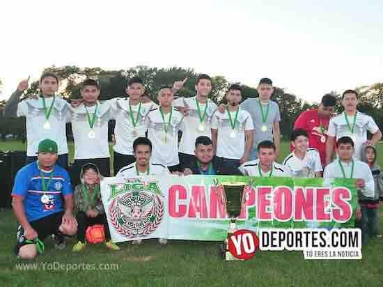 Cruz Azul campeones de la Liga Douglas Verano 2018 en Chicago