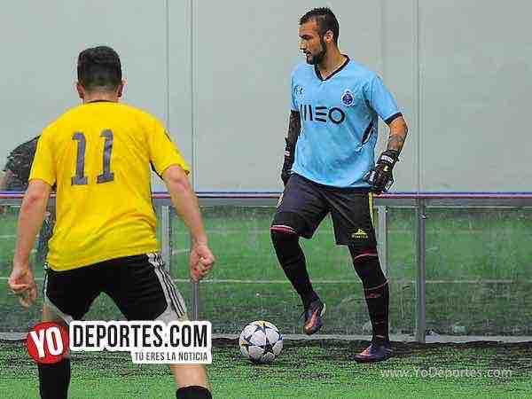 Portero Eder Patino-Real Celaya-Boca Jr-Champions de los Martes-Liga San Francisco