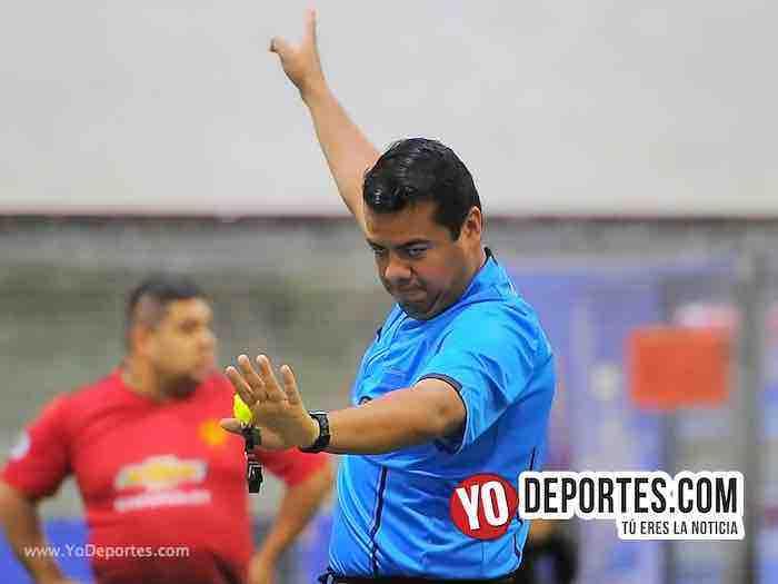 Arbitro Duardo Cruz-Callejoneros-Aguila-Liga 5 de Mayo-Viernes Copa Independencia