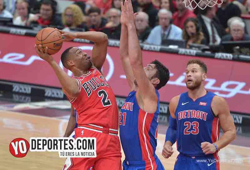 Bulls de Chicago tropiezan con los Pistones de Detroit en noche inaugural