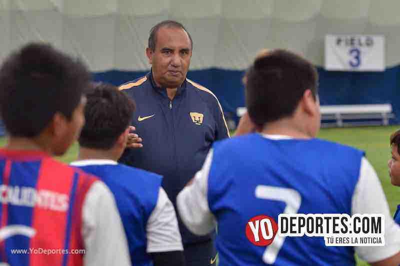 Miguel Hernandez coordinador area captacion de talentos Pumas UNAM-Visorias en Chicago