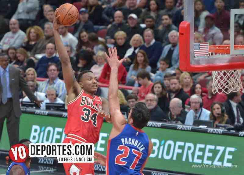 Wendell Carter Jr-Chicago Bulls-Pistons Detroit-Opening Night United Center
