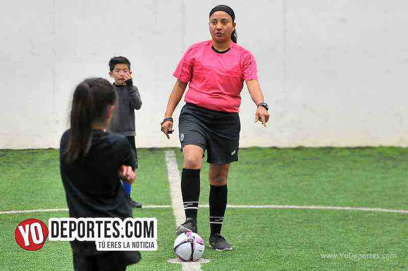 Arbitro Rosalba Luna-Douglas Kids-Chicago Dolphins-Liga San Francisco